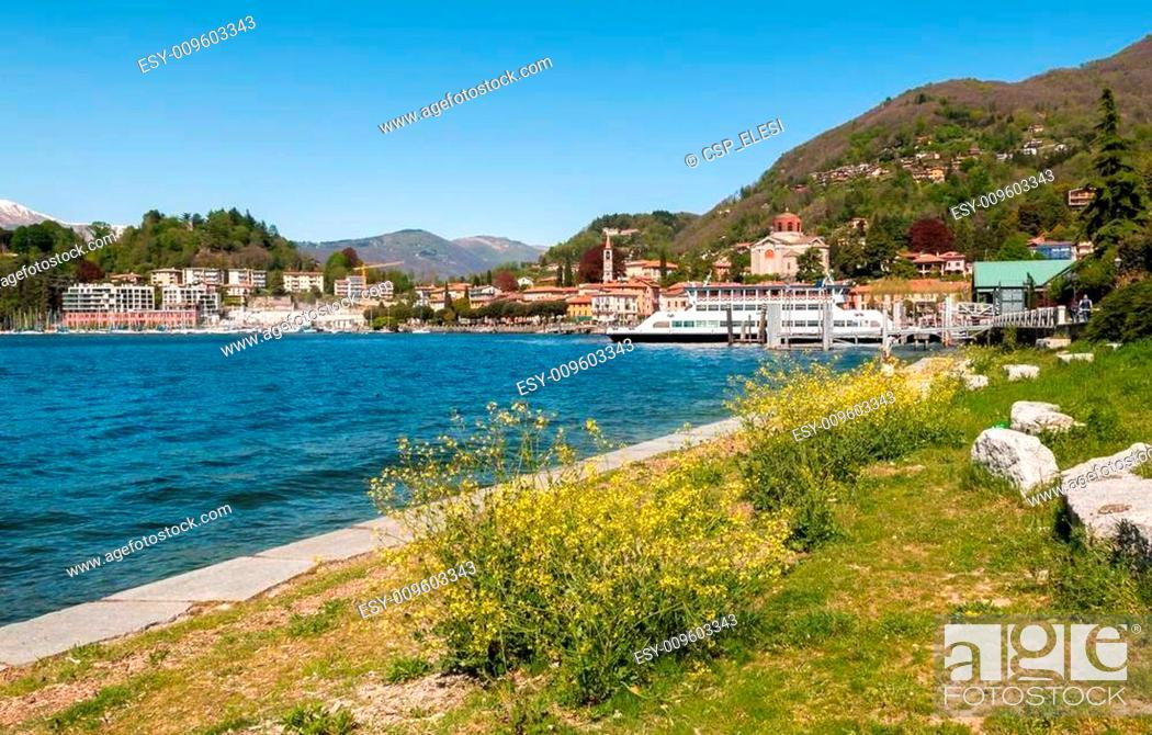 Stock Photo: Lake Maggiore, Laveno.
