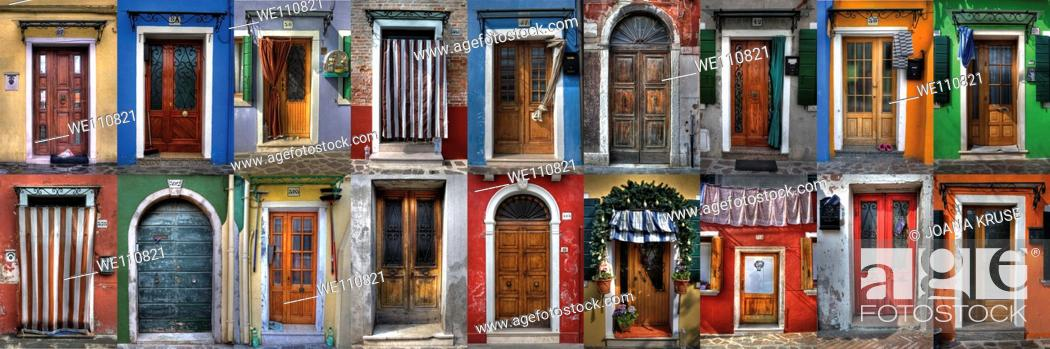 Imagen: doors and windows from Burano - Venice.