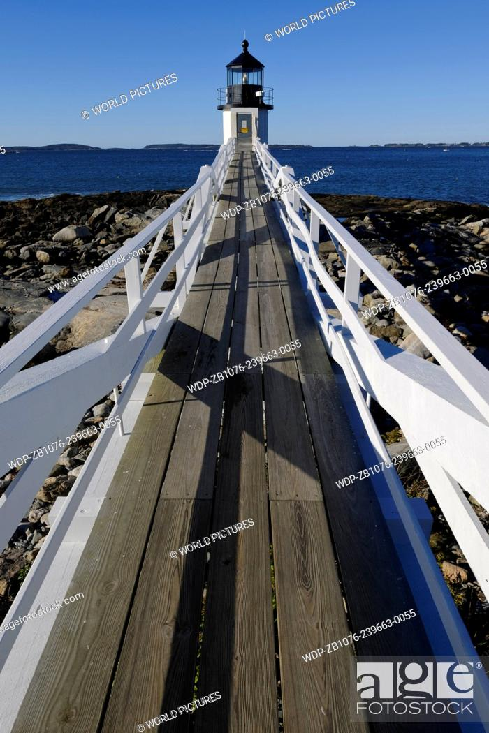 Stock Photo: Marshall Point Light; Port Cylde, Maine.