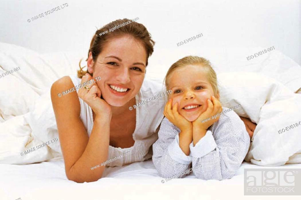 Stock Photo: Mother and daughter.