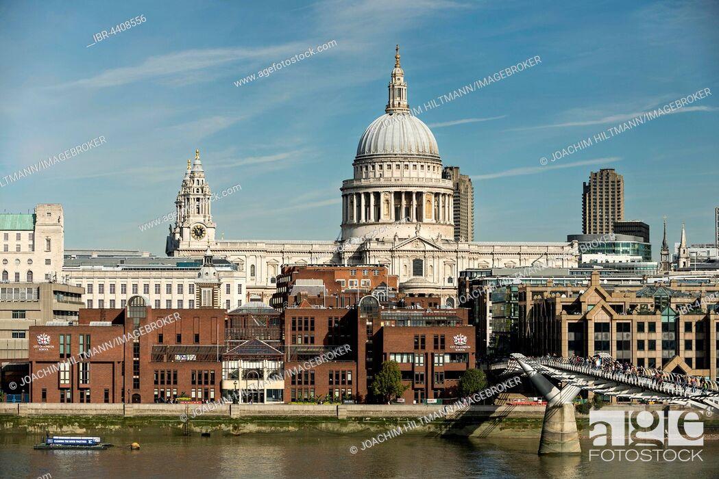 Imagen: St Paul's Cathedral and Millennium Bridge, London, England, United Kingdom.