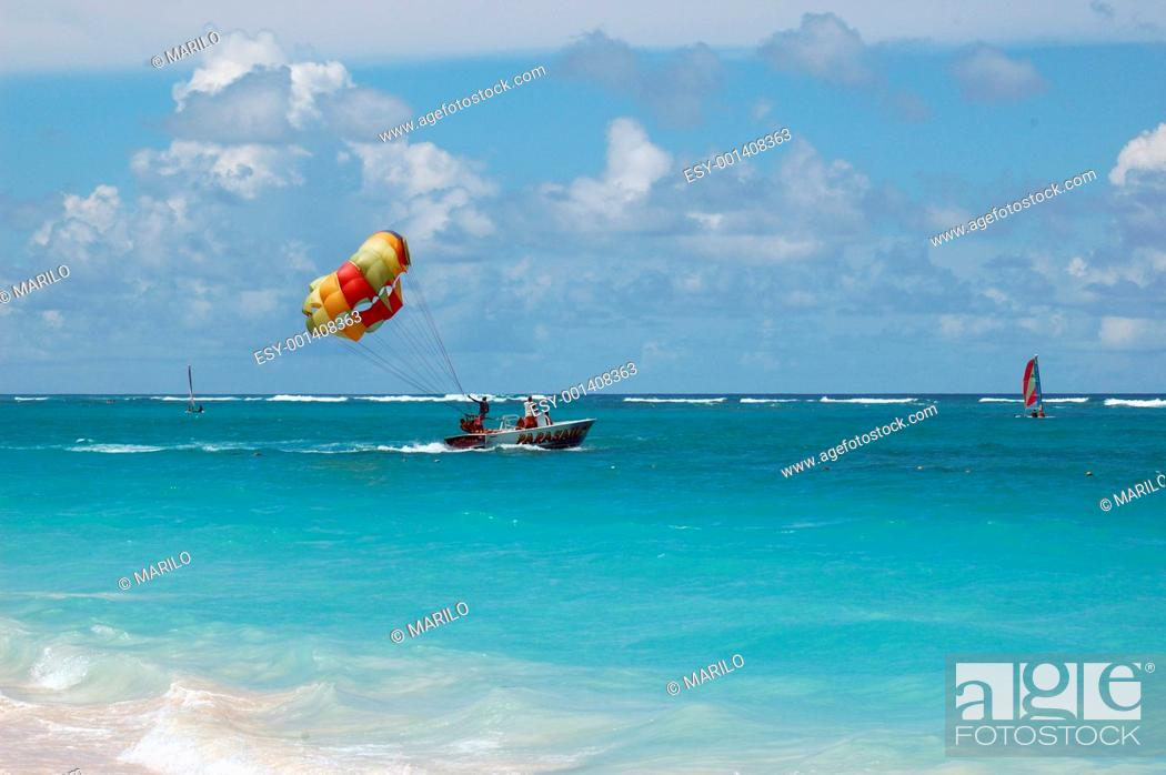 Stock Photo: Boat in Punta Cana.