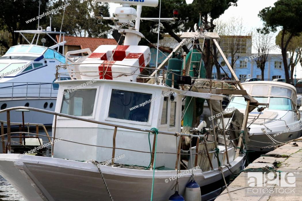 Stock Photo: Fishing boat.