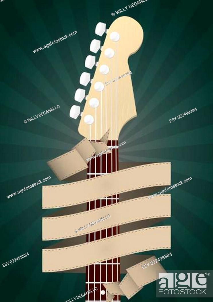 Stock Photo: headstock guitar.