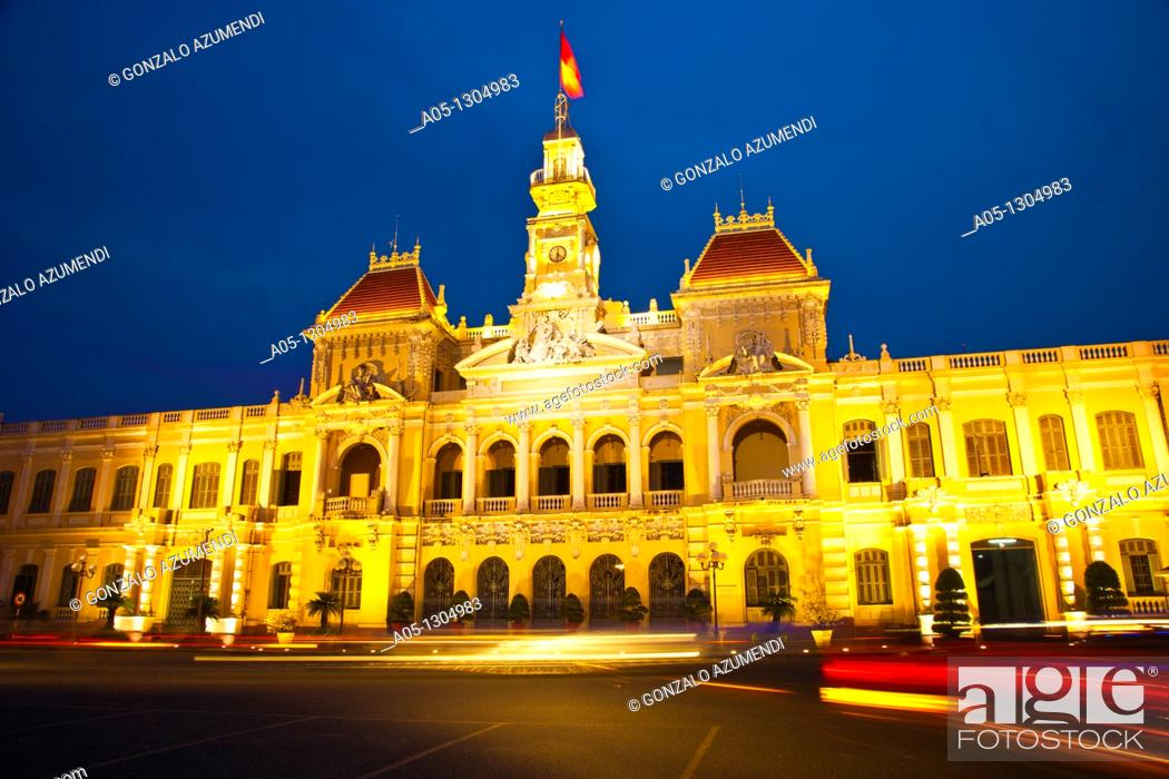 Stock Photo: City Hall. Ho Chi Minh City (formerly Saigon). South Vietnam.