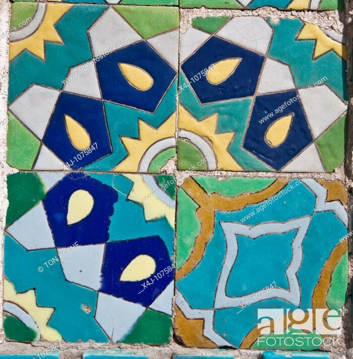 Stock Photo: tiles of the hazrat ali mosque in Mazar-i-sharif afghanistan.