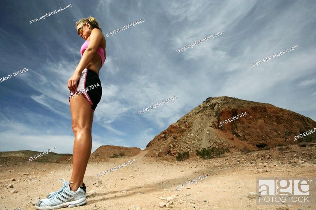 Stock Photo: Caucasian woman standing outdoors.
