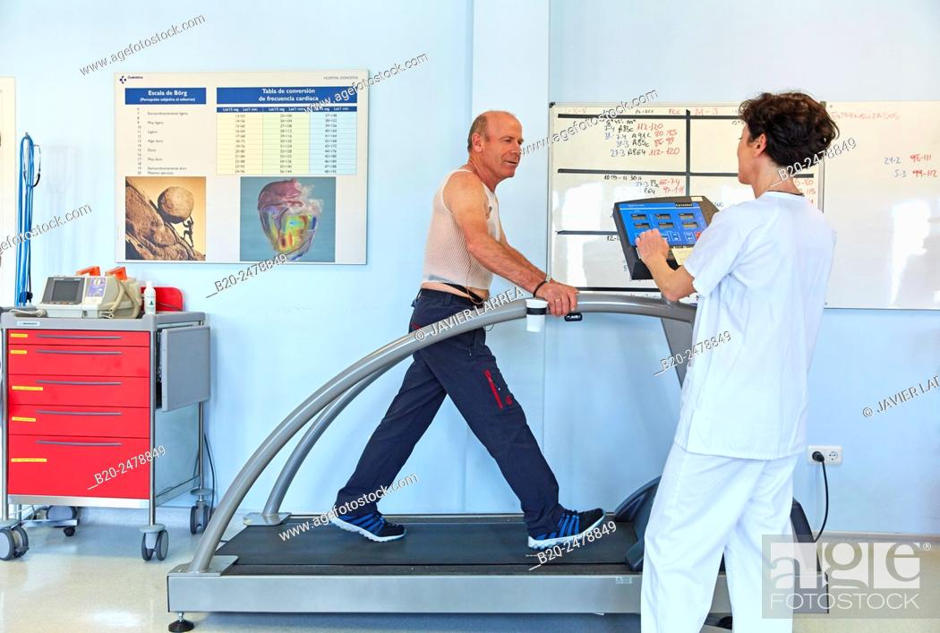 Stock Photo: Cardiac rehabilitation, Hospital Donostia, San Sebastian, Gipuzkoa, Basque Country, Spain.