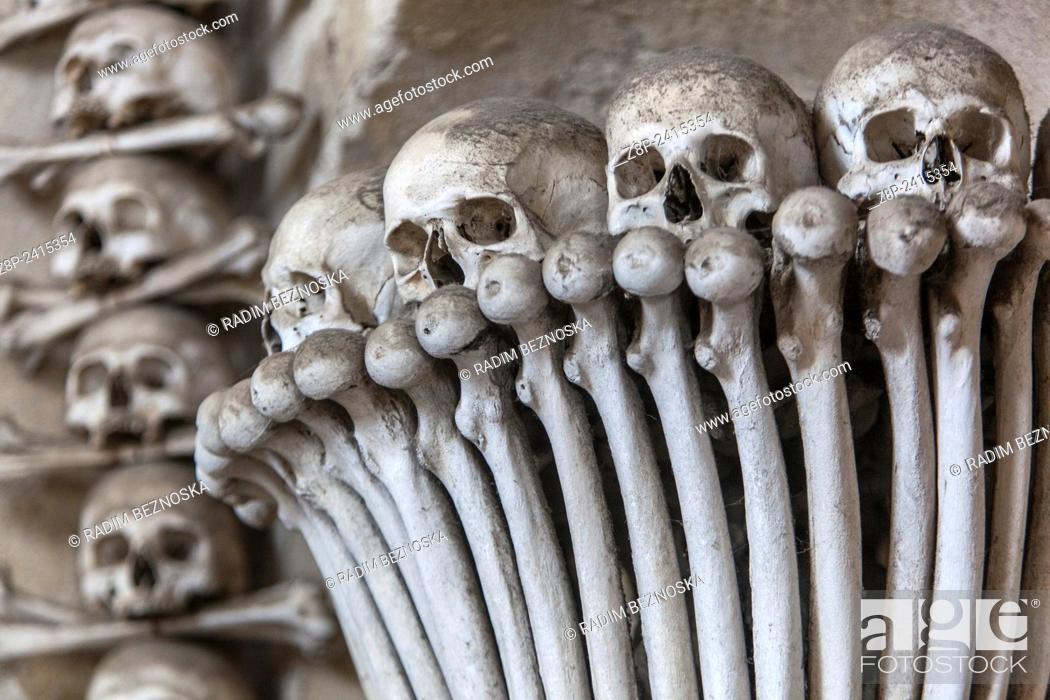 Stock Photo: Sedlec Ossuary, Kutna Hora, UNESCO town, Czech Republic.