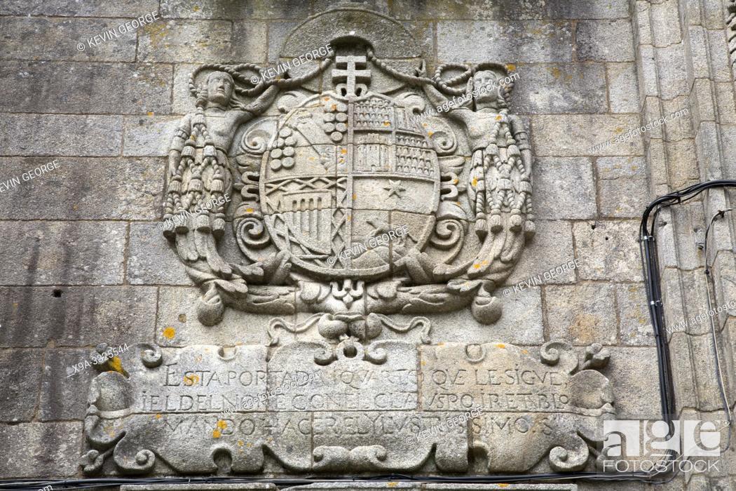 Stock Photo: Museum of Galician People, Santo Domingo de Bonaval Convent, Santiago de Compostela, Spain.