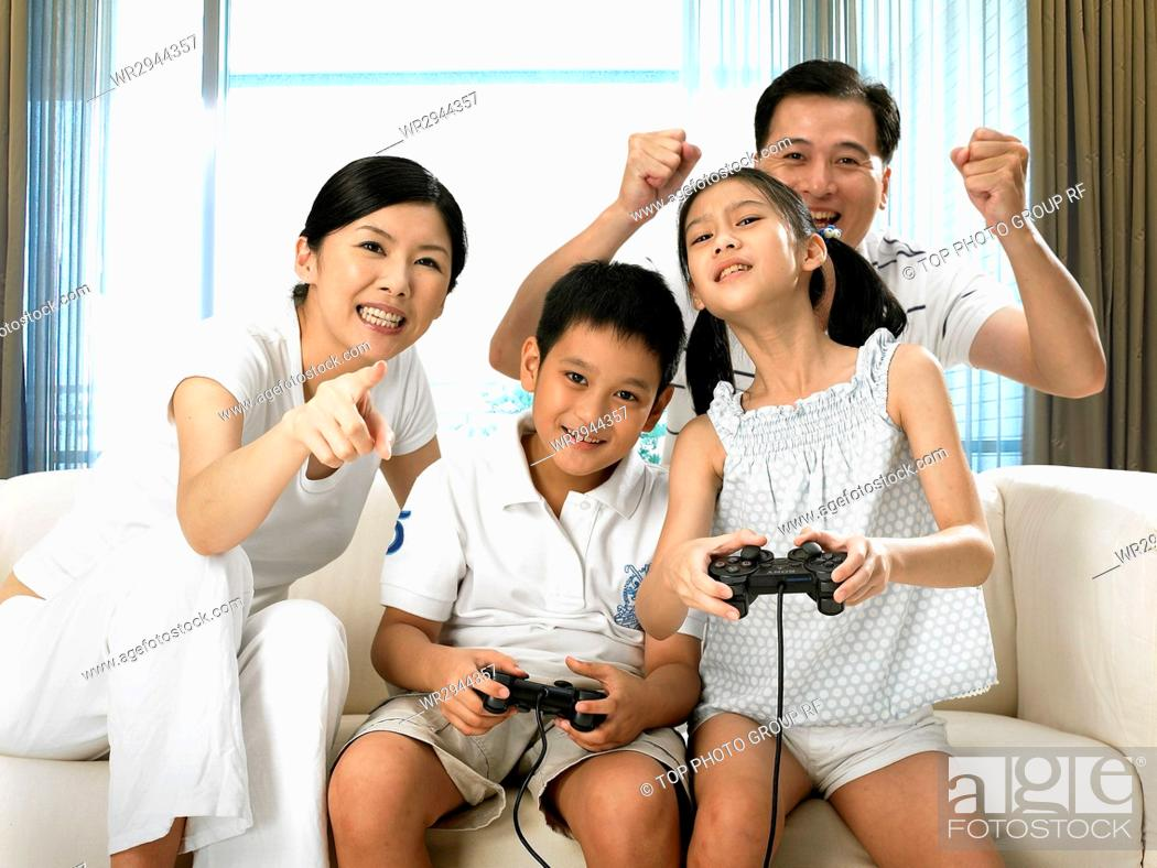 Stock Photo: Family Life.