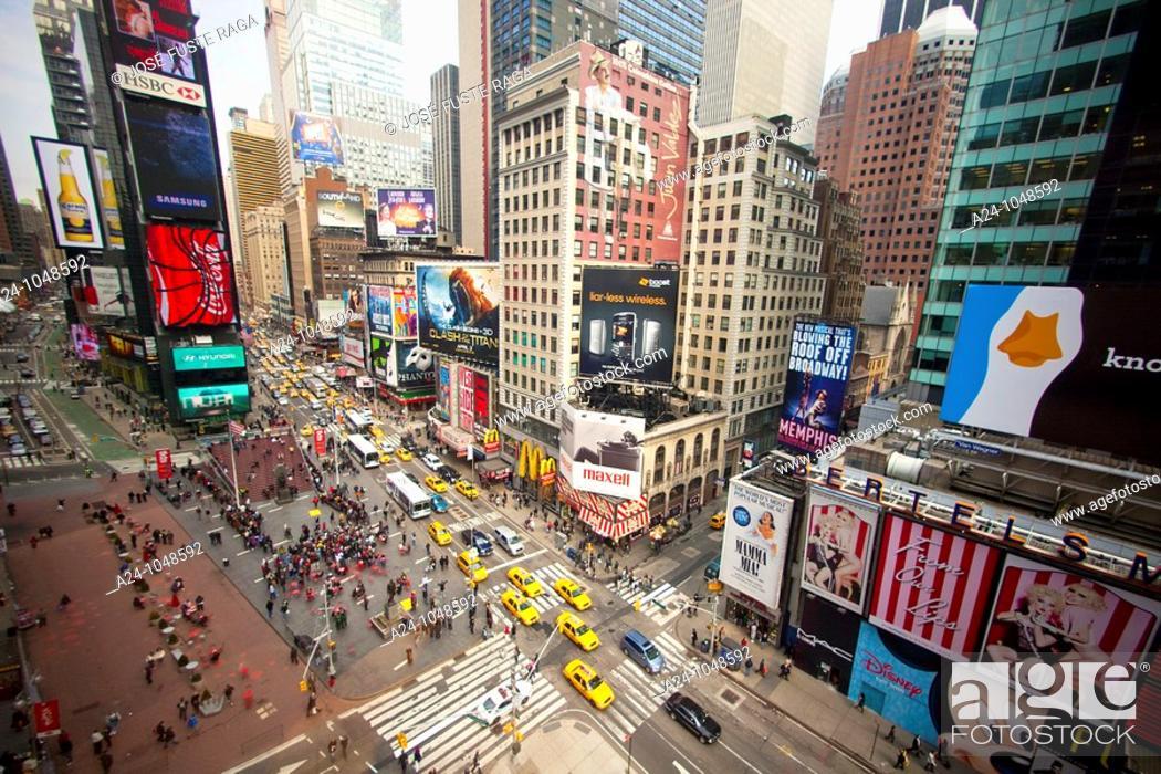 Stock Photo: Broadway, Times Square, New York City, USA.