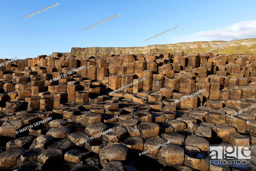 Stock Photo: Basaltic columns, Giant's Causeway, Causeway Coast, County Antrim, Northern Ireland, United Kingdom, Europe.