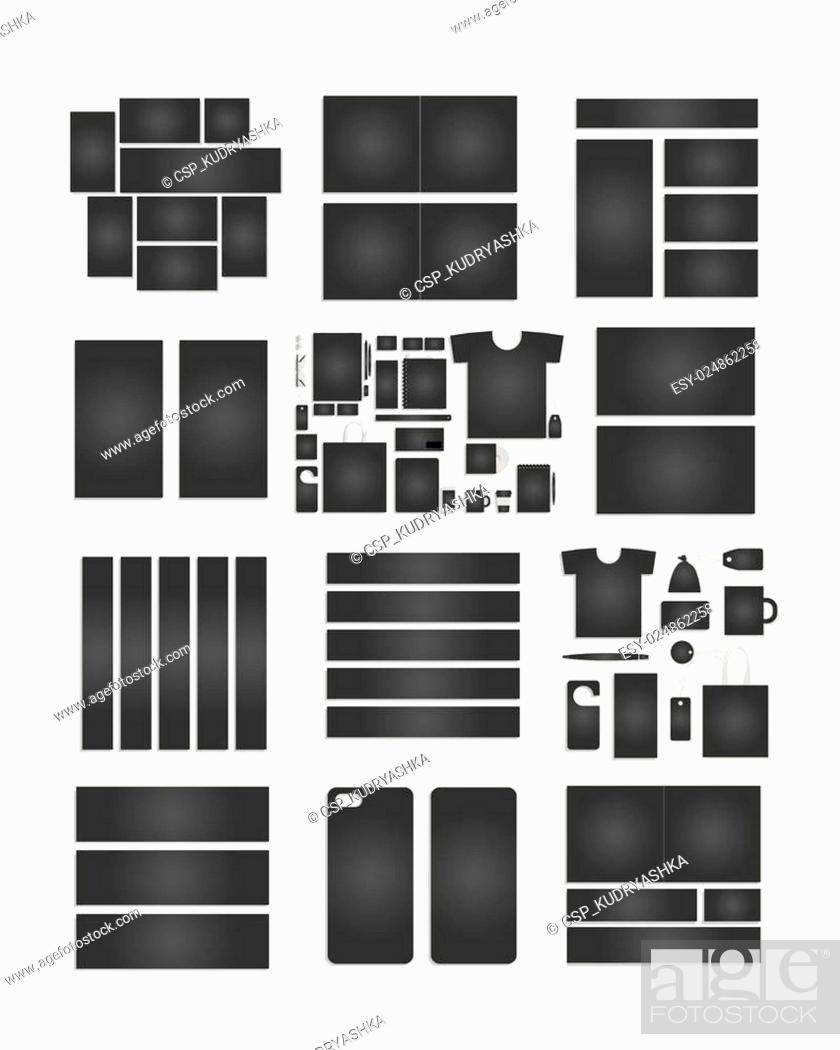Stock Vector: Corporate flat identity mock-up template for your design.