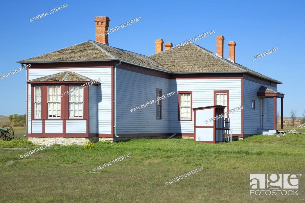 Stock Photo: Field Officer's Quarters, Fort Buford State Historic Site, North Dakota.