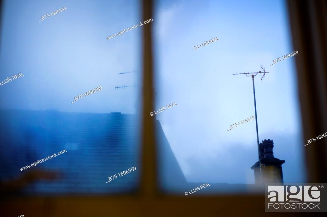 Stock Photo: transparency through a window.