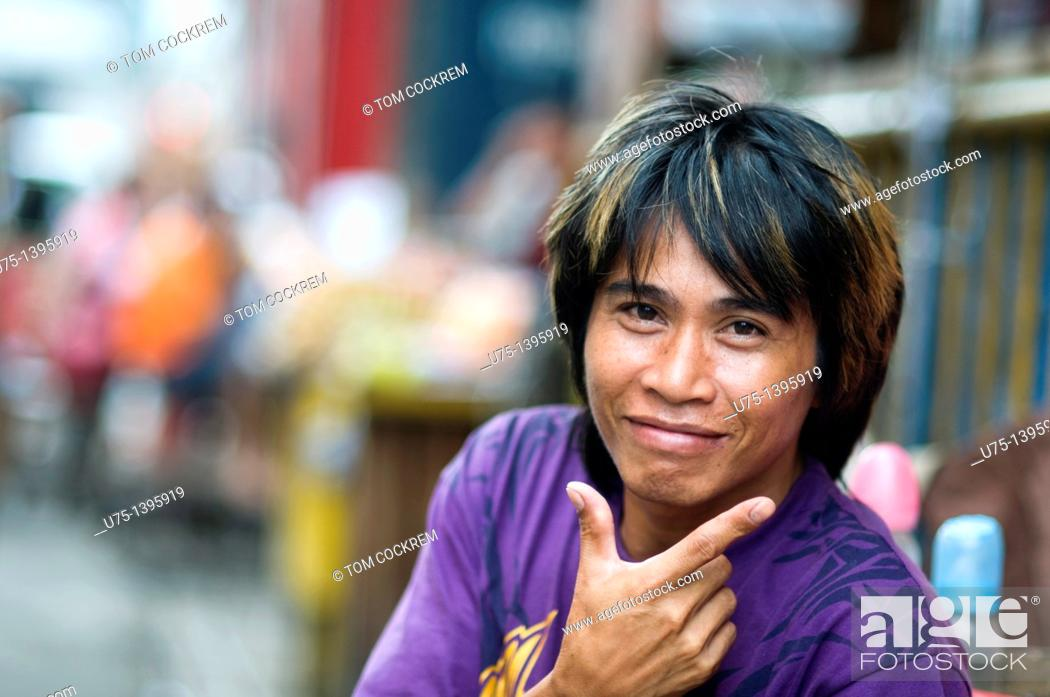 Stock Photo: young man, cebu city, philippines.