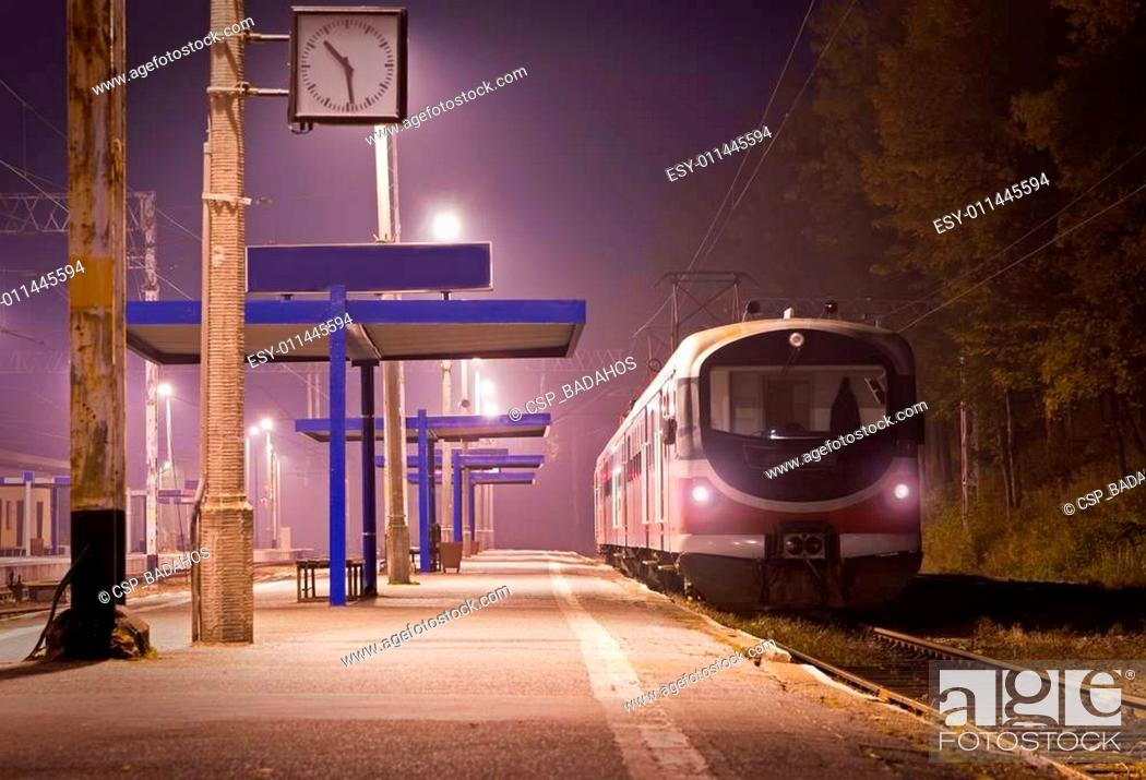 Stock Photo: The train station.