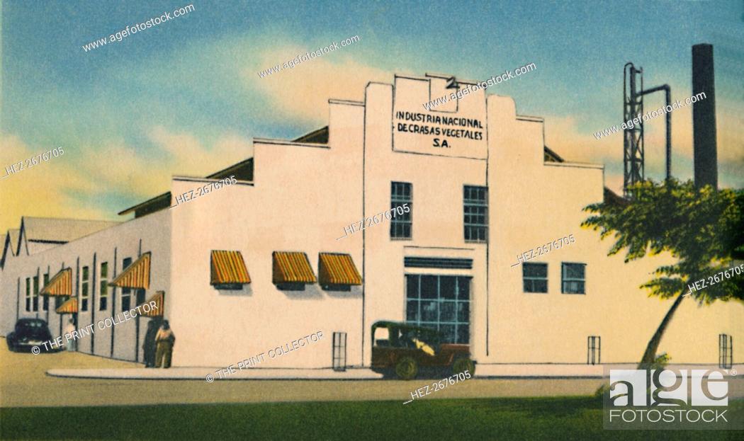Stock Photo: 'Industria Nacional de Grasas Vegetales S. A. Barranquilla', c1940s. Artist: Unknown.