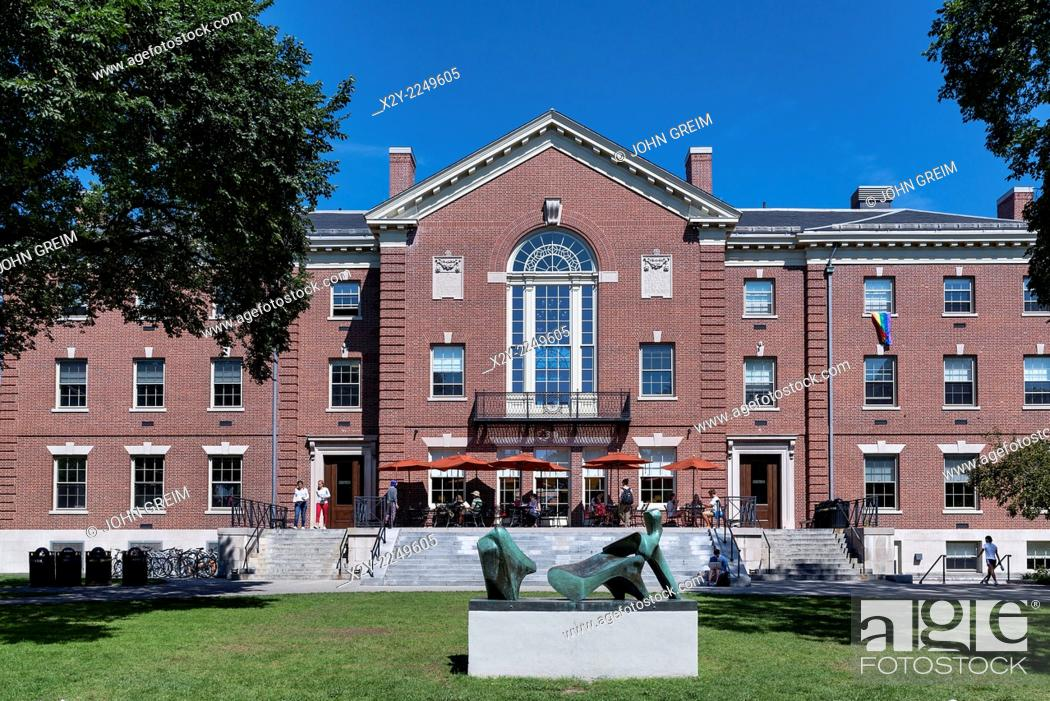 Stock Photo: Faunce House, Brown University campus, Providence, Rhode Island, USA.