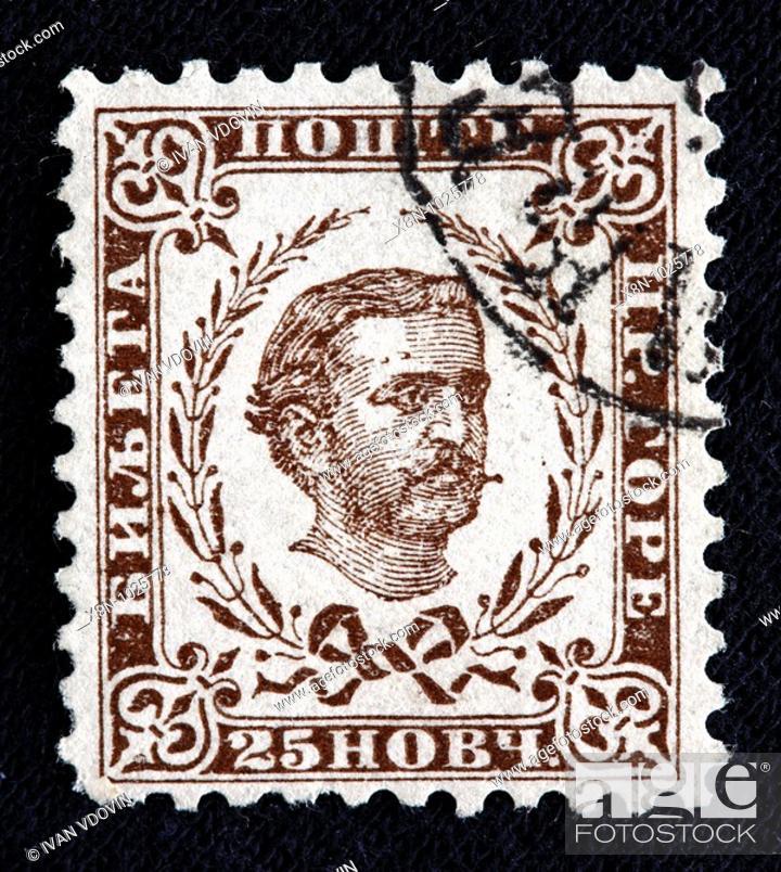 Nikola I King Of Montenegro 1860 1918 Postage Stamp Montenegro