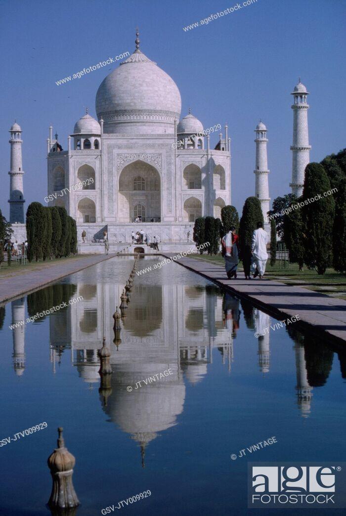 Imagen: Taj Mahal and Reflecting Pool, Agra, India, 1962.