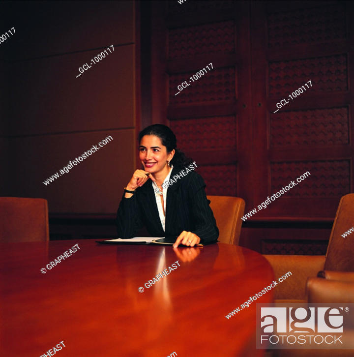 Stock Photo: Arab businesswoman in conference.