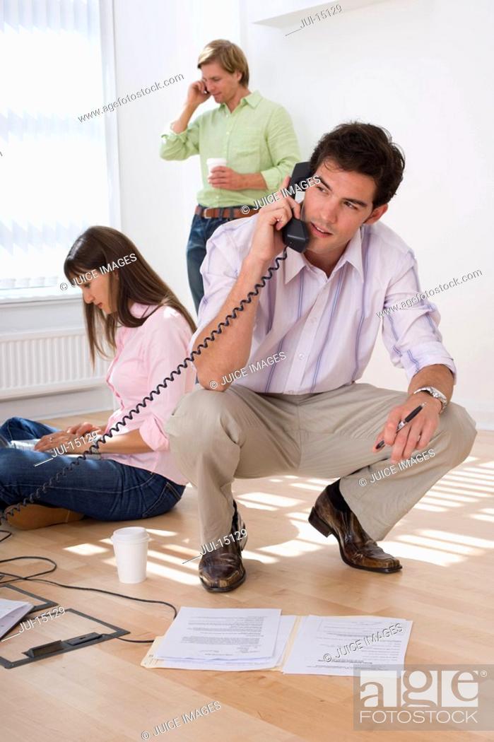 Stock Photo: Businessman on telephone.