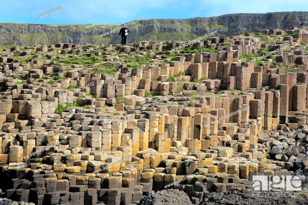 Stock Photo: Giant's Causeway, Causeway Coast, Northern Ireland.