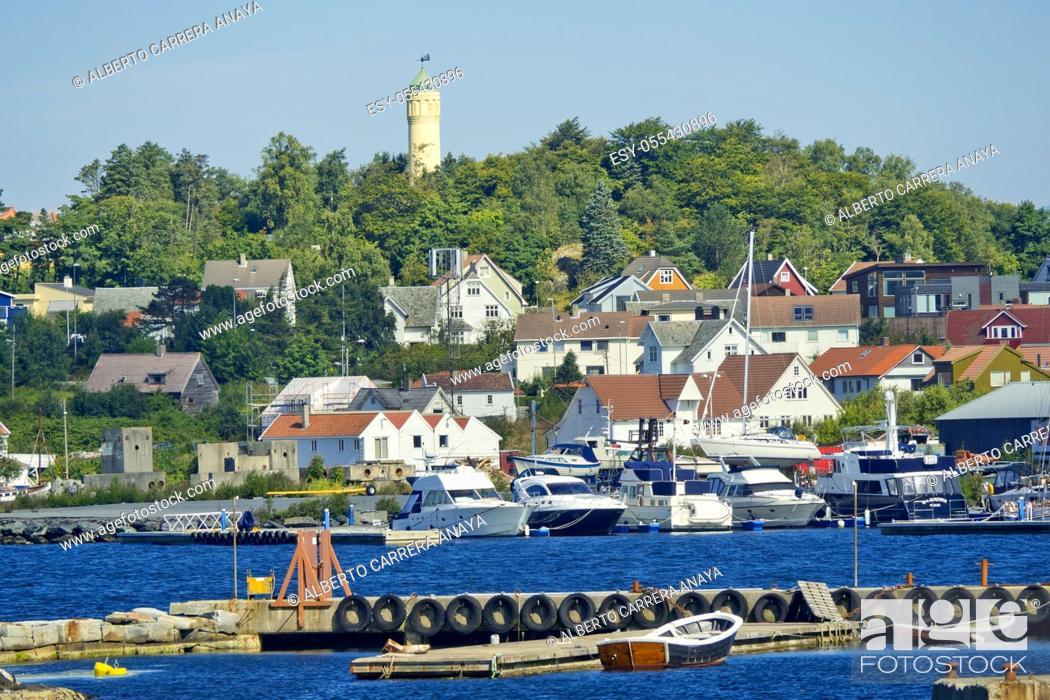 Stock Photo: Stavanger Vagen, Harbour, Stavanger, Norway, Scandinavia, Europe.