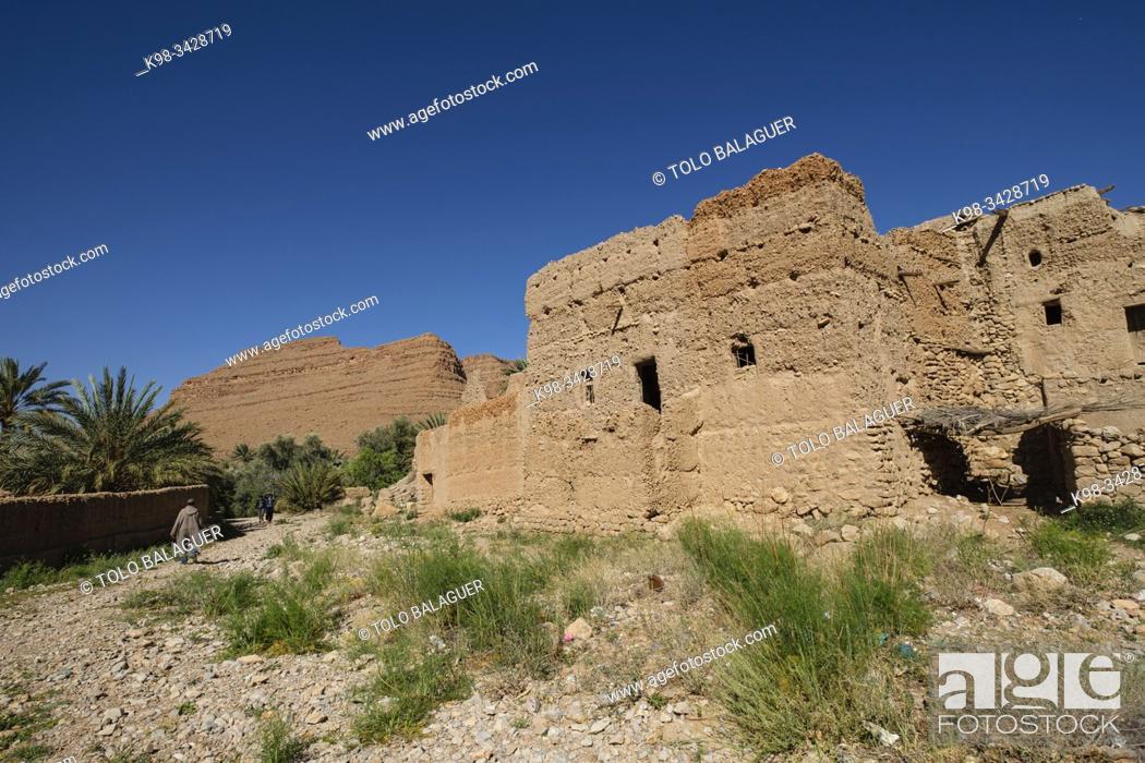 Imagen: kasbah de Ifri, valle del río Ziz, cordillera del Atlas, Marruecos, Africa.