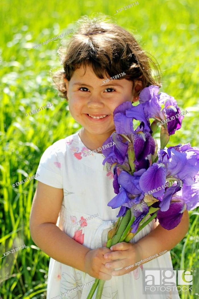 Stock Photo: Little girl. 3 years old.