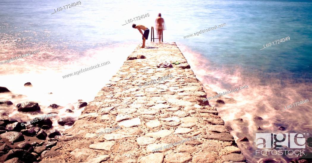 Stock Photo: Las playas, El Hierro, Canary Islands, Spain.