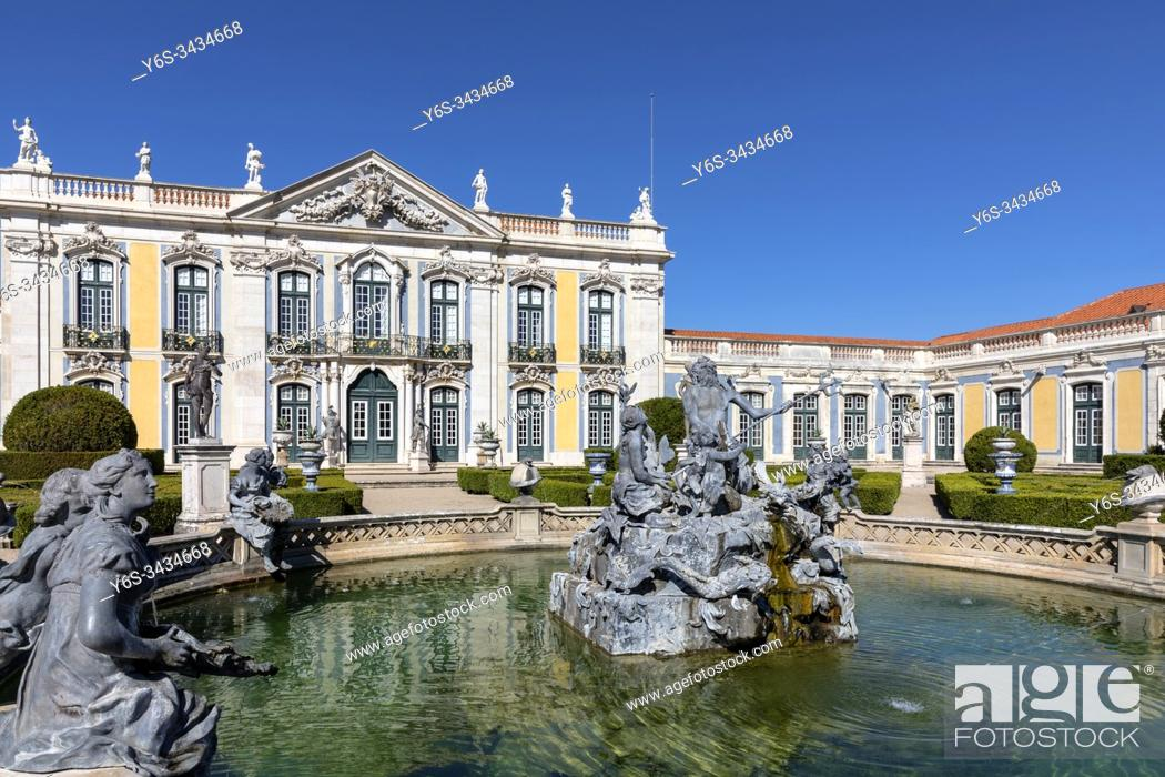 Stock Photo: Palace of Queluz, Sintra, Lisbon, Portugal, Europe.