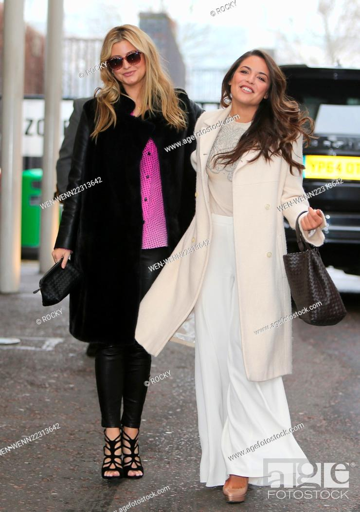 Stock Photo Holly Valance And Sister Olympia Outside The Itv Studios Featuring Candy Where London