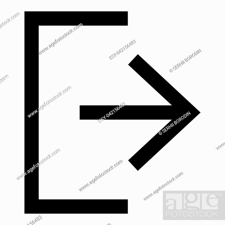 Stock Vector: Symbol exit icon black color vector illustration flat style simple image.