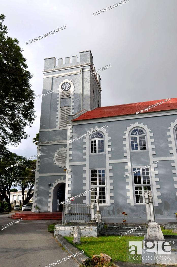 Stock Photo: St  Mary's Church Anglican Bridgetown Barbados Caribbean Cruise NCL.