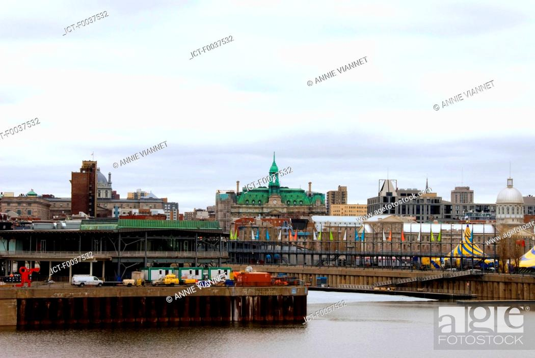 Stock Photo: Canada, Quebec, Montreal, old port.
