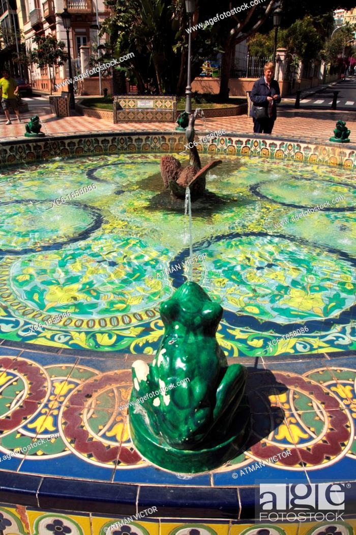 Stock Photo: Plaza de los Patos. Santa Cruz de Tenerife.Frog pond.Garden city.