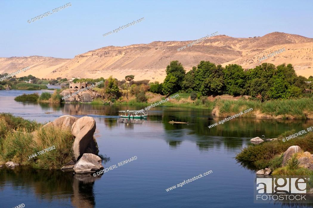 Felucca On Nile River Cataract Aswan Egypt Stock Photo Picture