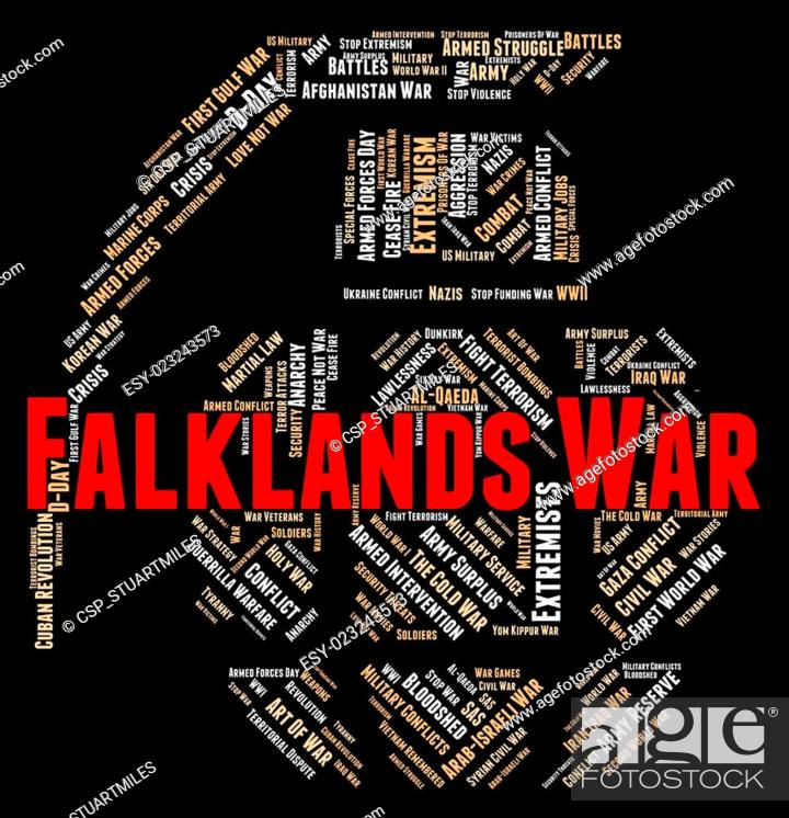 Falklands War Represents Military Action And Battle, Stock Photo
