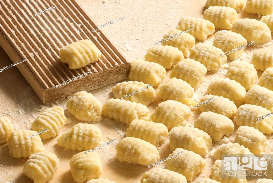 Stock Photo: italian homemade gnocchi.