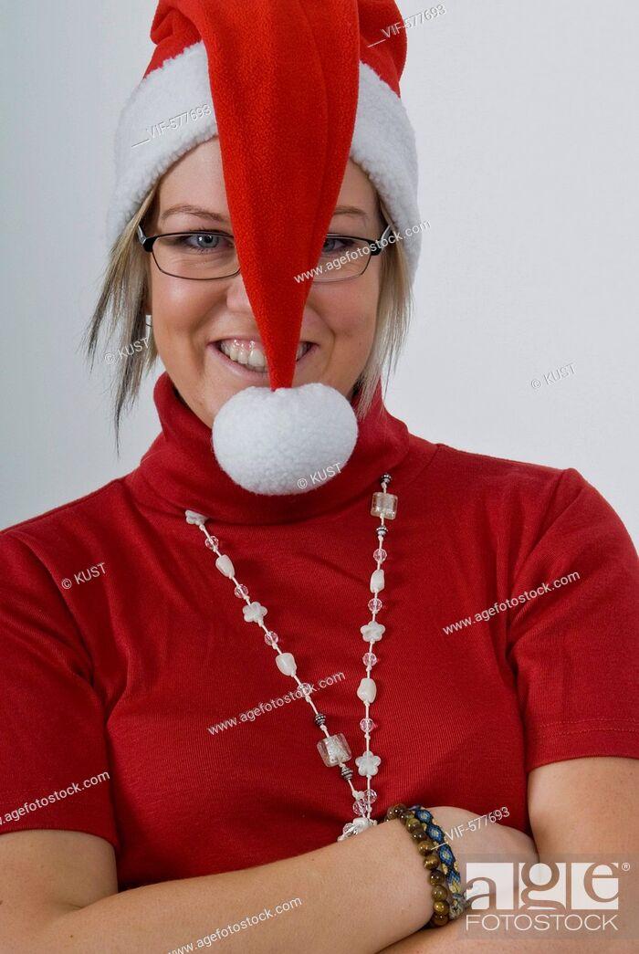 Stock Photo: Weihnachtsfrau - Niederoesterreich, Ísterreich, 26/11/2007.