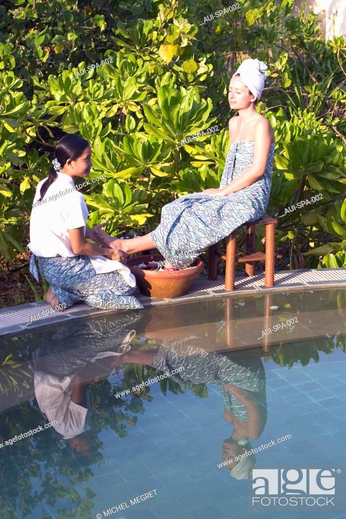 Stock Photo: Spa - Foot massage.
