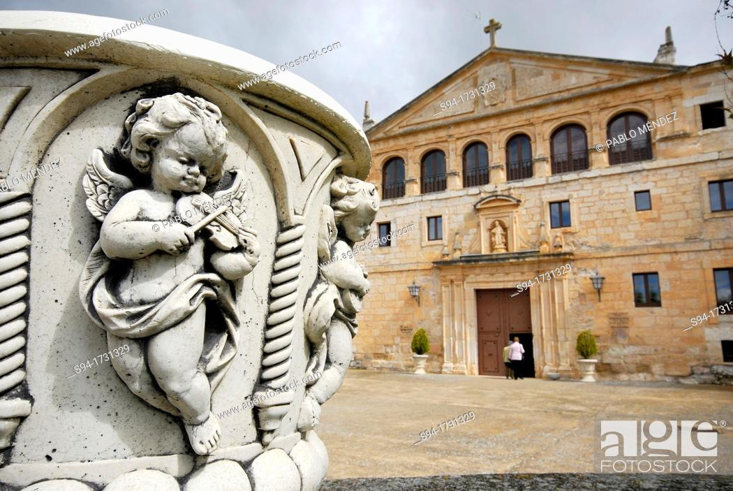 Stock Photo: Monastery of Santa Maria de La Vid in Burgos province, Castilla Leon, Spain.