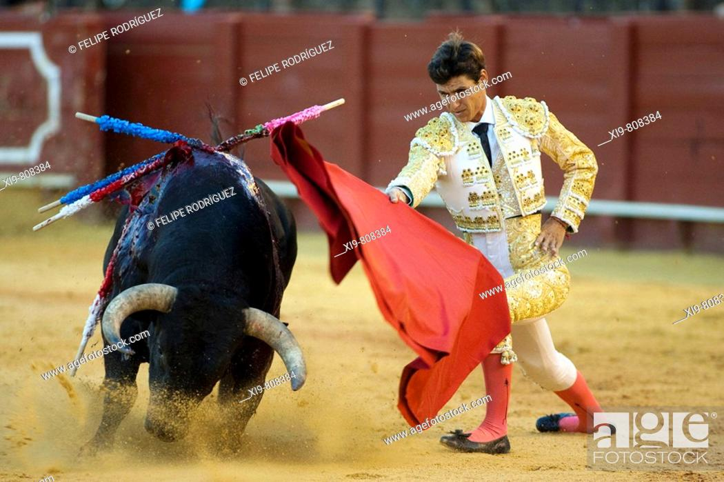 Stock Photo: Bullfighter César Girón. Plaza de toros de la Real Maestranza de Caballería de Sevilla. Seville. Spain.