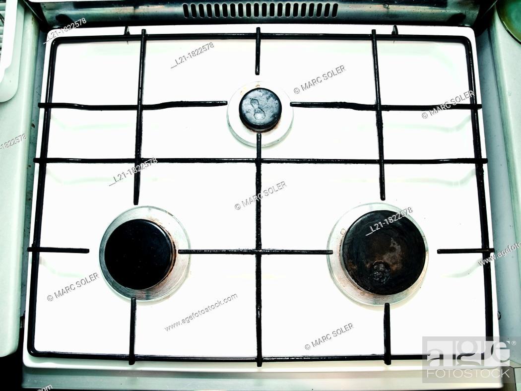 Stock Photo: Gas stove.