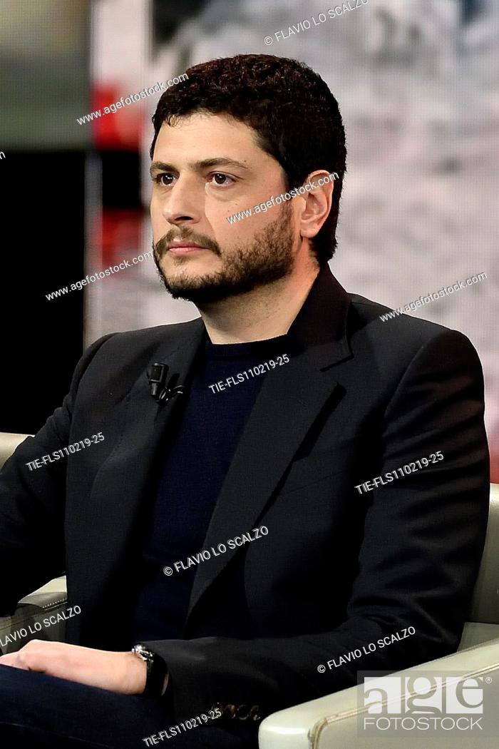 Imagen: The film director Claudio Giovannesi during the tv show Che tempo che fa, Milan, ITALY-10-02-2019.