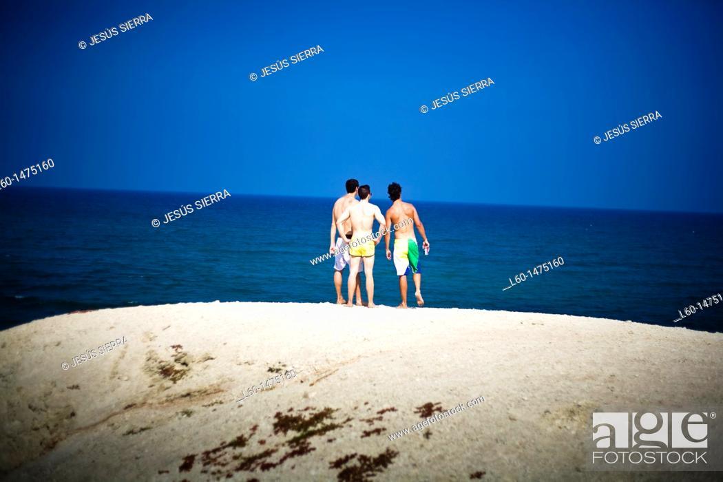 Stock Photo: Boys in Cabo de Gata, Almeria province, Spain.