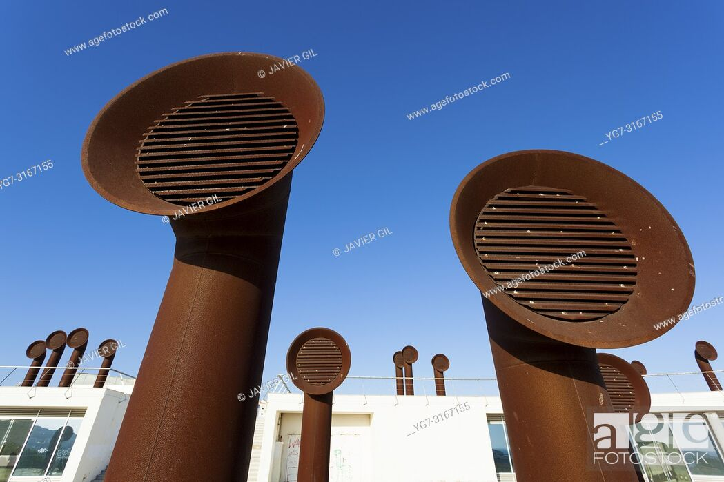 Stock Photo: Ventilation pipes, Albufeira, Algarve, Portugal.